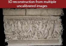 3D reconstruction from multiple uncalibrated images