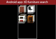 Android app3D furniture search